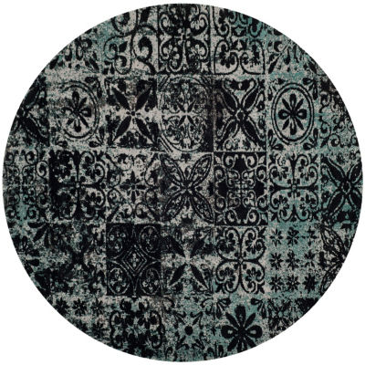 Safavieh Classic Vintage Collection Donald Geometric Round Area Rug