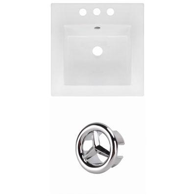 16.5-in. W 3H4-in. Ceramic Top Set In White Color
