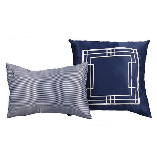 Lionel Richie Navy 2 Pack Throw Pillow