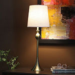 Decor Therapy Wynn Brushed Brass Buffet Lamp