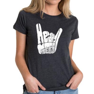 Los Angeles Pop Art Women's Premium Blend Word ArtT-shirt - Heavy Metal