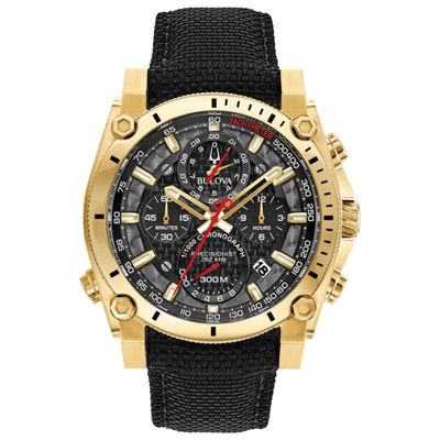 Bulova Mens Black Strap Watch-97b178