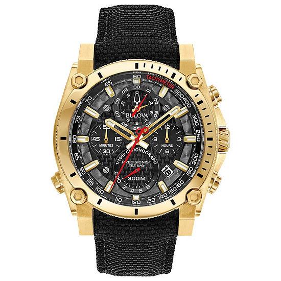 Bulova Precisionist Mens Black Strap Watch-97b178