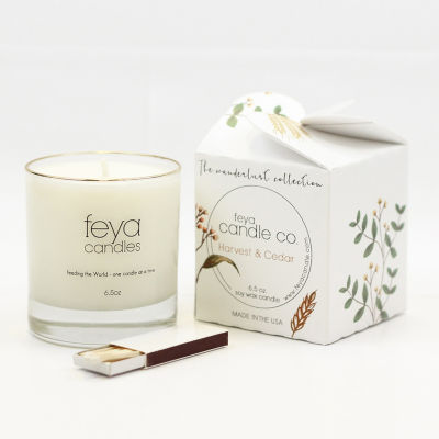 Feya Candle 6.5oz Harvest & Cedar Soy Candle