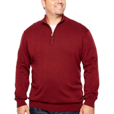 The Foundry Big & Tall Supply Co. V Neck Long Sleeve Pullover Sweater - Big and Tall