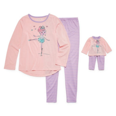 """""""For Me and My Dream Doll""""  2pc. Ballerina Pajama Set -Girls"""