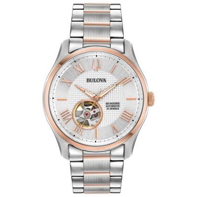 Bulova Mens Two Tone Bracelet Watch-98a213