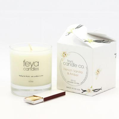 Feya Candle 6.5oz French Vanilla & Amber Soy Candle