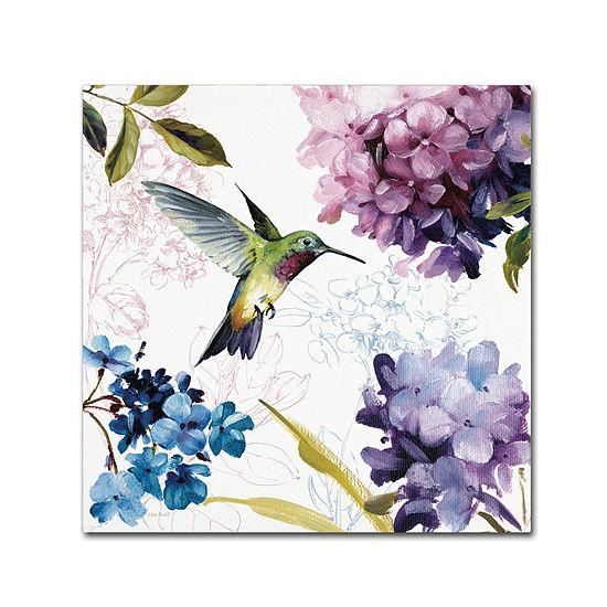 Trademark Fine Art Lisa Audit Spring Nectar SquareII Giclee Canvas Art