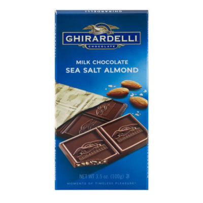 Ghirardelli Milk Chocolate Sea Salt Almond - 3.5 oz - 12 Count