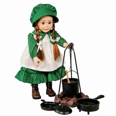 The Queen's Treasures 18 Inch Doll Little House Fire & Cooking Set