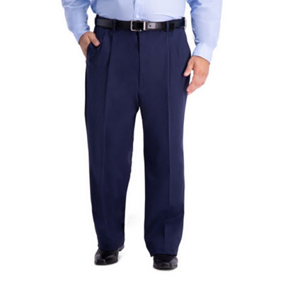 Haggar Work to Weekend Pro Relaxed Fit Pleat Big and Tall Pants