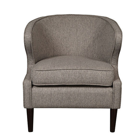 Modern Shelter Back Accent Chair