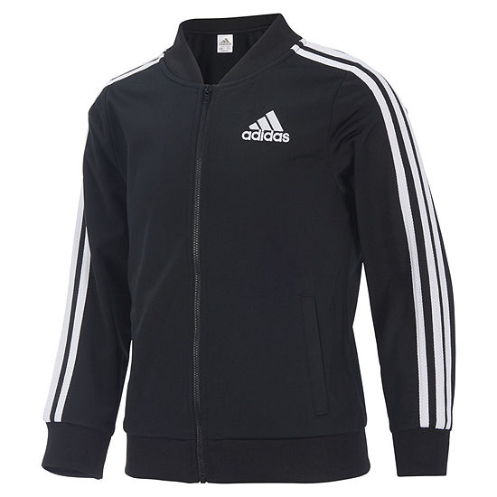 adidas Girls Lightweight Track Jacket-Preschool