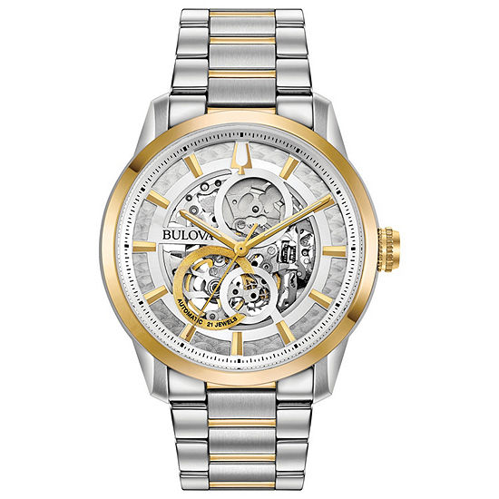 Bulova Sutton Mens Two Tone Stainless Steel Bracelet Watch-98a214
