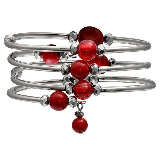 Mixit Silver Tone Bangle Bracelet