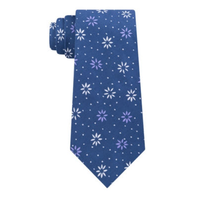 Stafford Trend Denim Geometric Tie