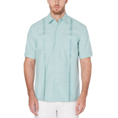 Cubavera Short Sleeve Pattern Button-Front Shirt