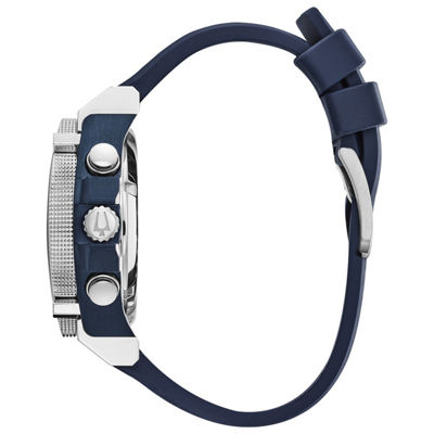 Bulova Mens Blue Strap Watch-98b315