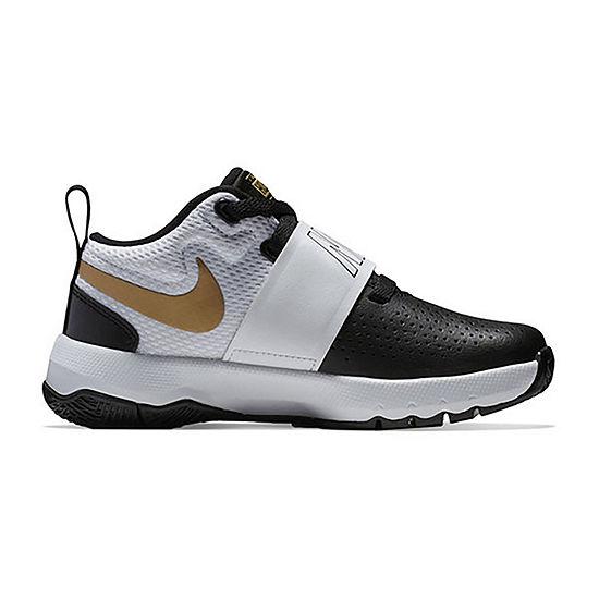 Nike Team Hustle D 8 Boys Basketball Shoes Lace-up
