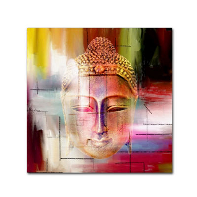 Trademark Fine Art Mark Ashkenazi Buddha Face 4 Giclee Canvas Art
