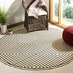 Safavieh Linden Collection Moriah Geometric Round Area Rug
