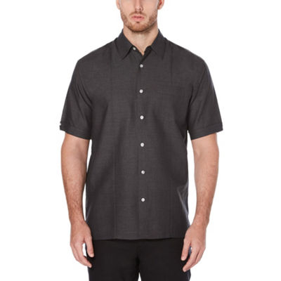Cubavera Mens Short Sleeve Pattern Button-Front Shirt