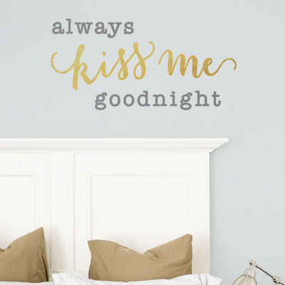 New View New View Kiss Me Wall Letters Wall Decal