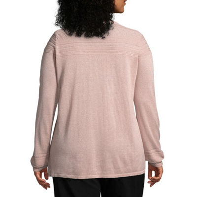 Liz Claiborne Pointelle Sweater- Plus