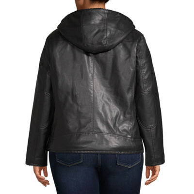 Levi's Hooded Midweight Motorcycle Jacket-Plus