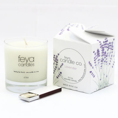 Feya Candle 6.5oz Lavender Soy Candle