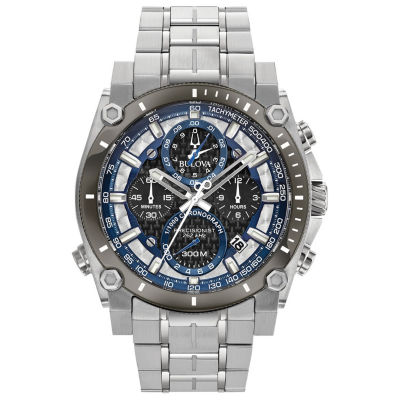 Bulova Mens Silver Tone Bracelet Watch-98b316