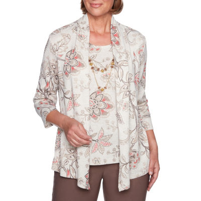Alfred Dunner Sunset Canyon 3/4 Sleeve Layered Top