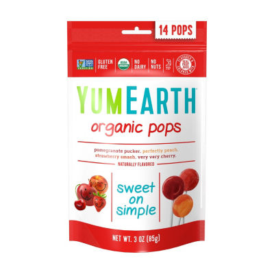 YumEarth Organic Lollipops - 3 oz - 6 Pack