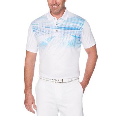 PGA TOUR Easy Care Short Sleeve Floral Polo Shirt