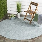 Safavieh Courtyard Collection Flora Geometric Indoor/Outdoor Round Area Rug