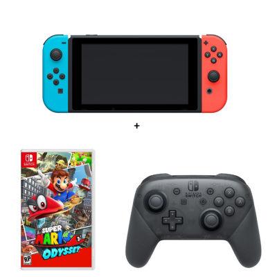Mario Odyssey Nintendo Switch Bundle - Neon