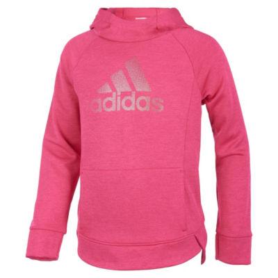 adidas Girls Crew Neck Long Sleeve Sweatshirt - Preschool