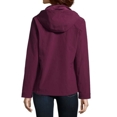 Free Country Hooded Water Resistant Lightweight Softshell Jacket-Petite