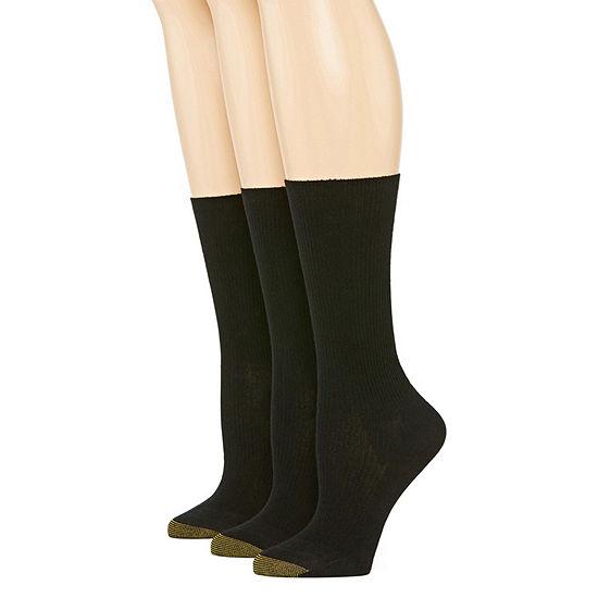 Gold Toe Wellness 2 Pair Crew Socks Womens
