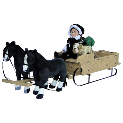 The Queen's Treasures 18 Inch Doll Little House Wagon/Sleigh Horse