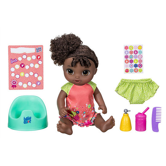 Baby Alive Potty Dance Baby (Black Curly Hair)
