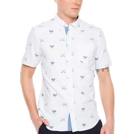 Jmco Big & Tall Short Sleeve Button-Front Shirt