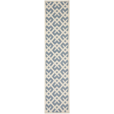 Safavieh Courtyard Collection Darrin Geometric Indoor/Outdoor Runner Rug