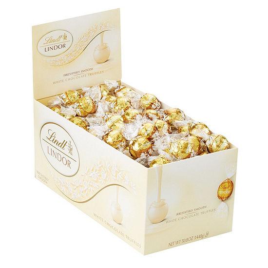 Lindor White Chocolate Premium Truffles - 120 Count