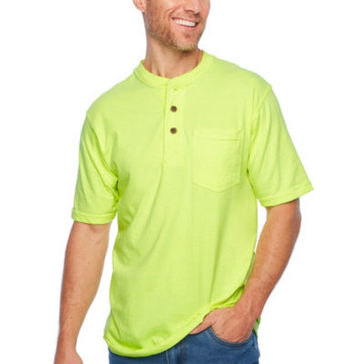 Smith Workwear Short Sleeve Henley With Gussett Sleeves & Pocket