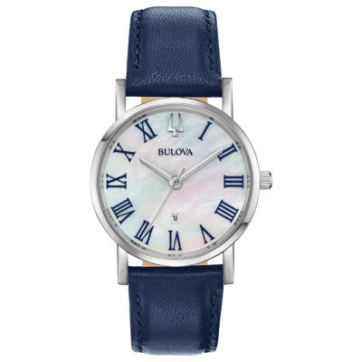 Bulova Womens Blue Strap Watch-96m146