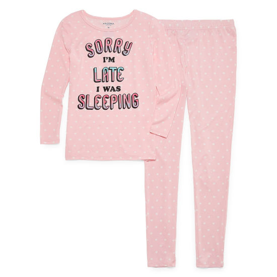 Arizona Tight Fit Sleeping Late 2pc Set - Girls