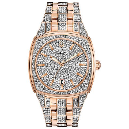Bulova Phantom Mens Two Tone Stainless Steel Bracelet Watch-98b324