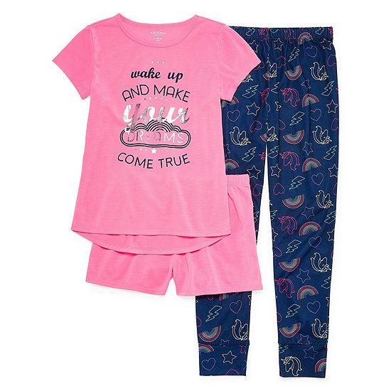 Arizona 3-pc. Pajama Set Preschool Girls - JCPenney b8420f9e7